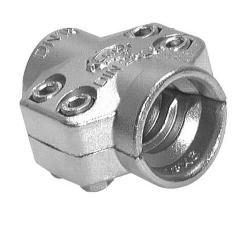 Slangklämma i två delar för ångslangar - rostfritt stål 1.4401 - DIN 2826