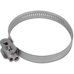 Safety hose clamp - 1.4301 - chucking capacity 50 to 230mm - 12mm range - with v