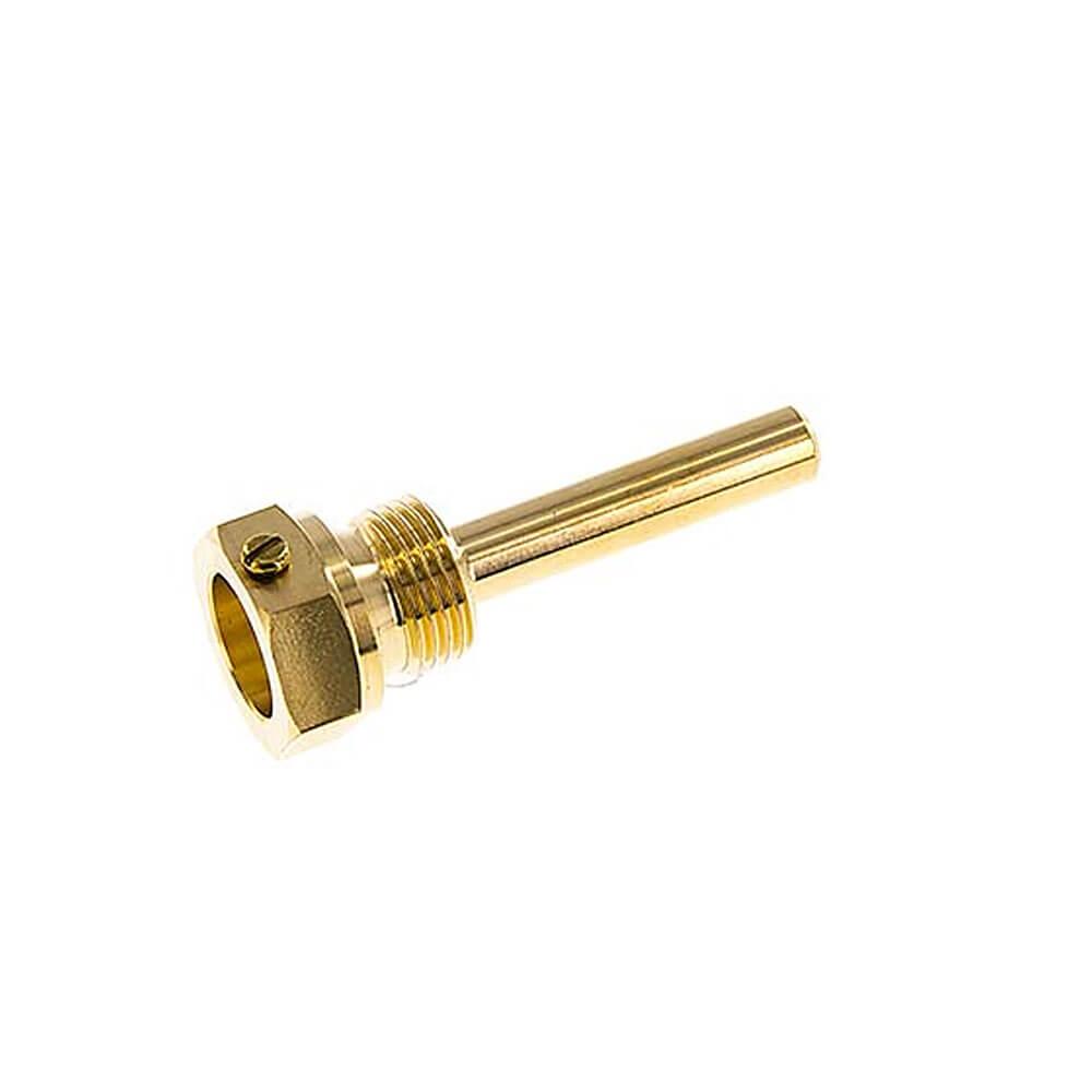 Schutzrohr - mit Klemmschraube für Bimetallthermometer Typ A - 18 mm Bund
