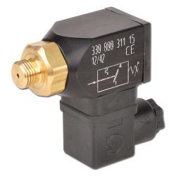 Vakuumschalter - Aluminium - drehbar mit Wechsler - Außengewinde G 1/4 Zoll - Einstellbereich -0,98 bis -0,2 bar