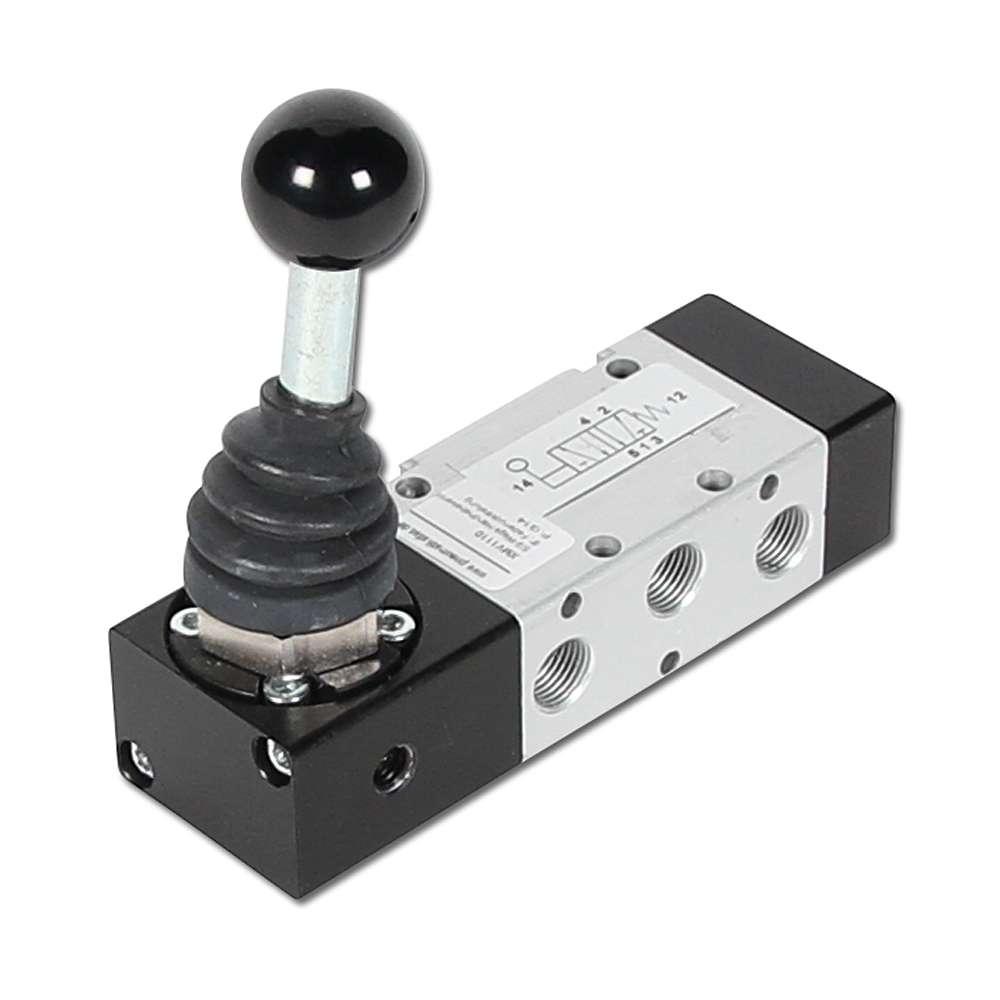 """Handspaksventil - 5/2-vägs - G 1/8"""" - byggserie XMV 1000"""