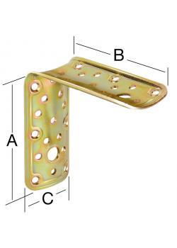 Équerre de connexion - acier - galvanisé - pour bûches - épaisseur 2,2 - prix du paquet