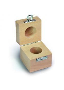 Etui für Prüfgewicht F 2 bis M 3 - Einzelgewicht à 2 g - Holz
