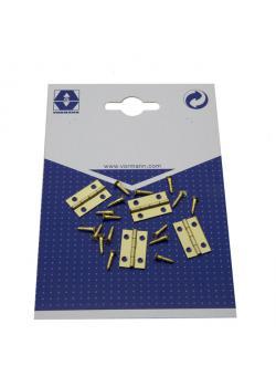 Kistans gångjärn - valsad - mässing - inkl. Skruvar - paket med 20 delar Pris per förpackning