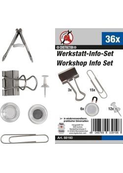 Workshop Info range - paper clips, magnets, needles - 36 pcs.