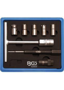 Injektoren-Dichtflächen-Fräser-Satz - Fräser aus HSS Stahl - 7-tlg.