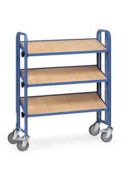 Assembly trolley - with 3 tiltable floors of wood - 250 kg