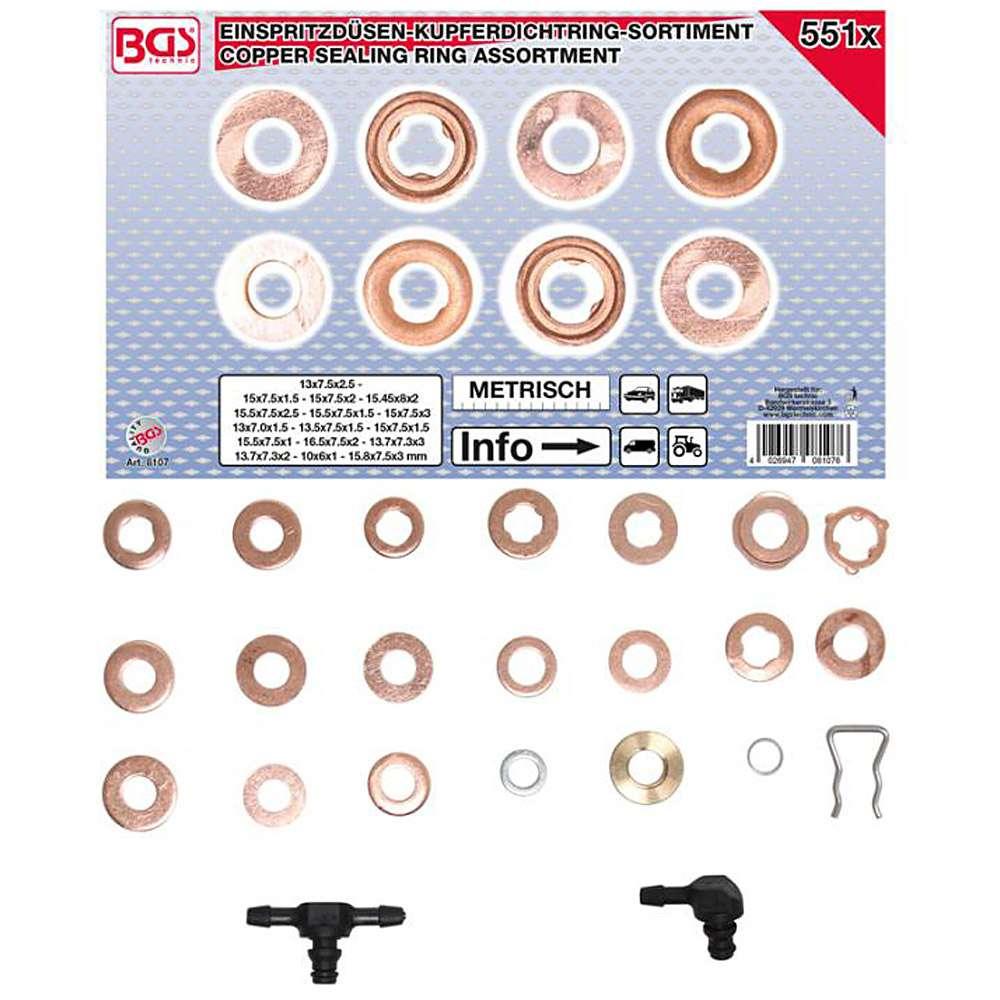 Iniettore di tenuta di rame anello assortimento per for Diversi tipi di tubo di rame