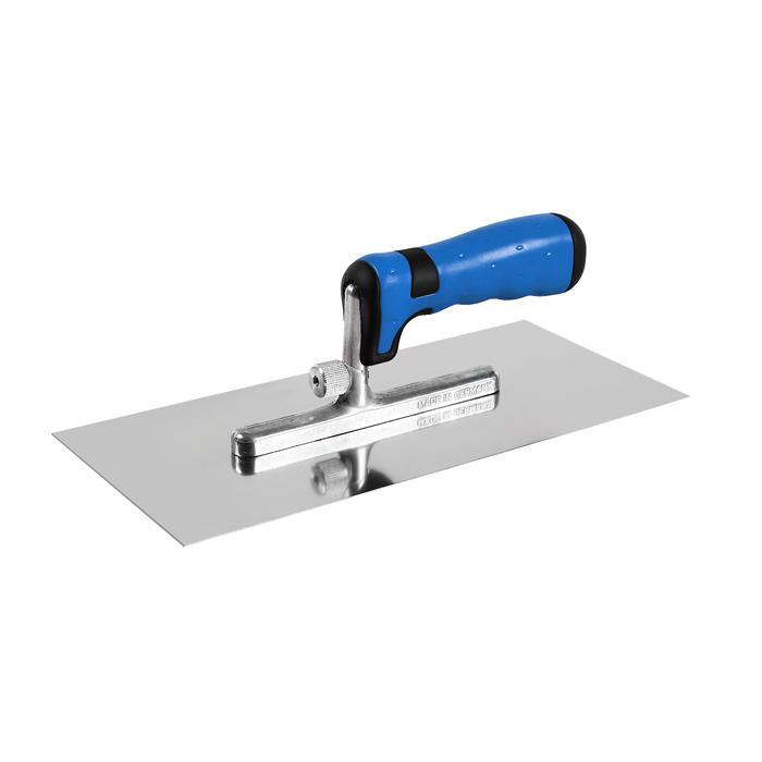 Glättekelle - mit Stahlblatt - für Kleber und Putz - Maße 280 x 130 x 0,7 mm