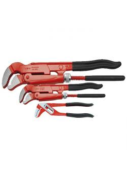 Jeu de clés serre-tubes à mâchoire en S - longueur jusqu'à 250 mm - revêtement p