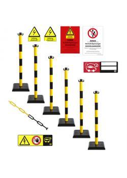 Set di dissuasori con segnali di avviso - per aree ad alta tensione elettrica