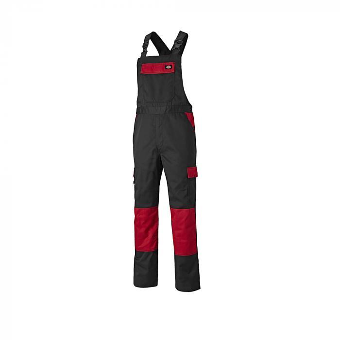 Latzhose Everyday - Dickies - Größe 44 bis 62 - schwarz/rot