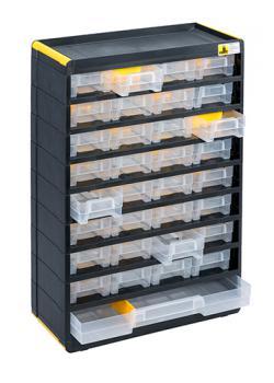 Kleinteilemagazin VarioPlus Original 49 - mit 33 Schubladen - Außenmaße (B x T x H) 300 x 135 x 480 mm