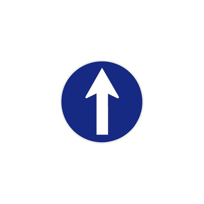 """Gebotszeichen """"Richtungsangabe"""" - Durchmesser 5-40 cm"""
