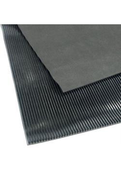 Arbetsplatsmatta - fina räfflad - tjocklek 3mm - svart