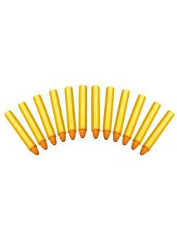 Fettsignierstifte - wasserfest - Farbe gelb - Anzahl 12 Stück