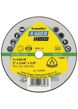 Kleintrennscheibe A 660 R - Durchmesser 50 bis 100 mm - Breite 1 bis 1,6 mm - Bohrung 6 bis 10 mm