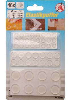 Elastic-set - self adhesive - transparent - 46 pcs.