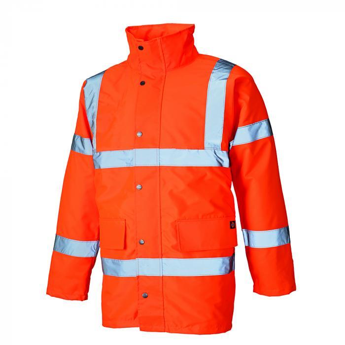 Parka di protezione - Dickies - con fodera leggera - ben visibile - taglie dalla S alla 4XL - arancione