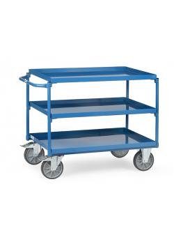 Table trolley - with tubs - carrying capacity 400 kg - color blue