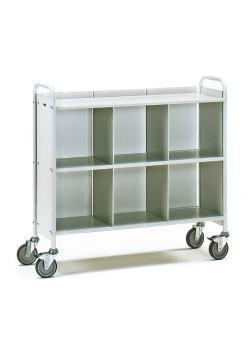 Office Cart - 150 kg - with 3 floors - 1 rear and 2 partitions