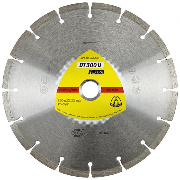 Diamanttrennscheibe DT 300 U - Durchmesser 115 bis 230 mm - Bohrung 22,23 mm - gesintert
