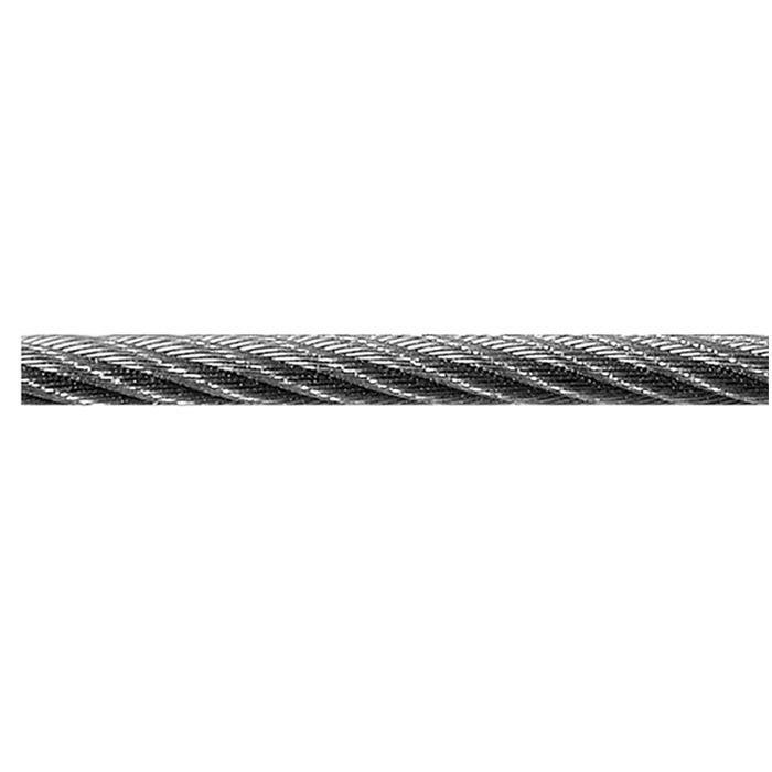 Stahldrahtseil - verzinkt -  DIN 3060 - 114-drähtig - auf Spule - Preis per Rolle