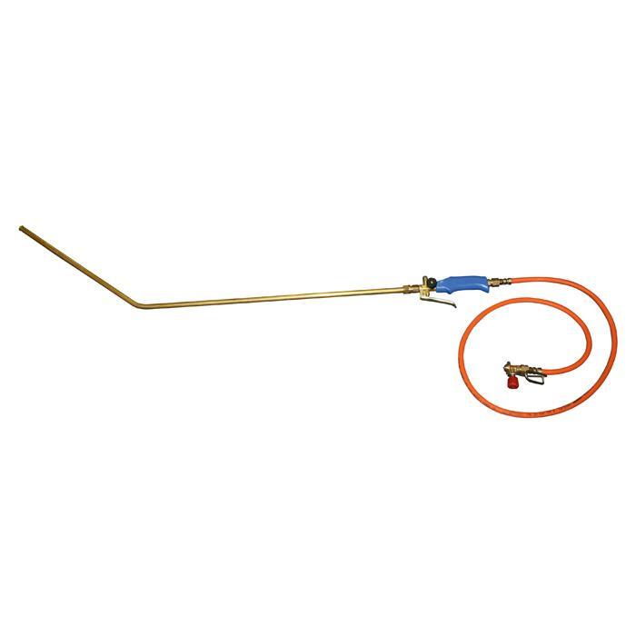 Euterhaarentferner PREVENTA - 1,5 m - Schlauch - für Gaskartusche - gebogene Lanze