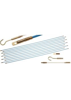 Kabel-Verlegehilfe - Glasfaserstangen-Ø 4 mm - max. Länge 10 m - 13-tlg.