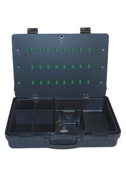 Werkzeugkoffer - Polypropylen - mit Werkzeugeinsatz - Farbe schwarz