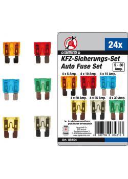 Säkringar till bilen i set - 5A till 30A - i olika färger - 24 st