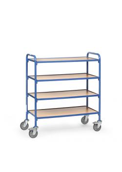 Trolley - 4 shelves made of wood - length 940 mm