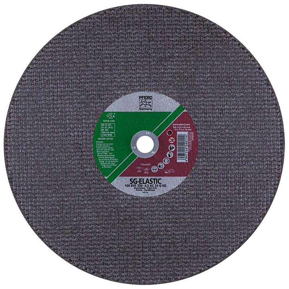Skärhjul - PFERD - för gjutjärn - hårdhet Q - max. Arbetshastighet 100 m / s