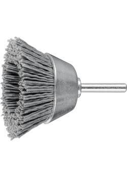 PFERD Topfbürste TBU mit Schaft - Kunststoffbesatz Siliciumcarbid - ungezopft - Außen-ø 50 und 60 mm - Besatzmaterial-ø 0,90 mm - VE 10 Stück - Preis per VE