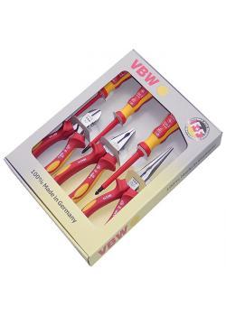 Jeu de pinces  VDE - branches composites - longueur de 160 à 200 mm - 7 pcs