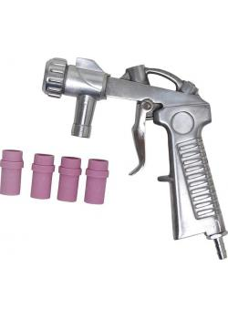 Ersatz-Sandstrahlpistole - für Druckluft-Sandstrahlkabine - mit 4 Keramikdüsen - 4 bis 7 mm