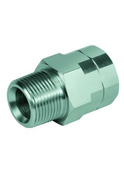 """Reducing and extension nozzle - Chrome-plated steel - AG NPT 1/8 """"to NPT 2"""" to IG NPT 1/8 """"to NPT 2"""""""