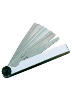 set spessimetro - 21 fogli - coniche - Dimensioni (L x W) 100 x 12.7 mm - Campo di misura 0,1 - 0,5 millimetri