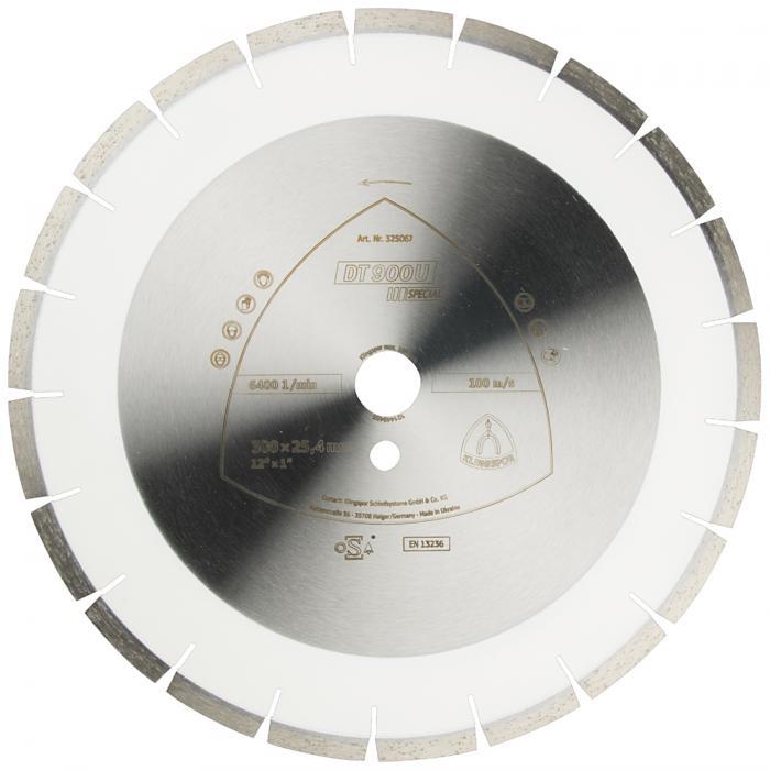 Diamanttrennscheibe DT 900 U - Durchmesser 300 bis 500 mm - Bohrung 25,4 bis 30 mm - lasergeschweißt