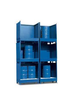 Gefahrstoffstation 2 P2-O - Stahl lackiert - für 2 Fässer à 200 Liter - stapelbar