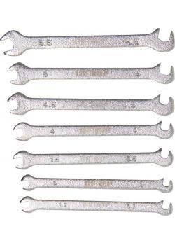 Skiftnycklar med dubbla ändar - Miniversion - 3 mm till 5,5 mm - 7 stycken