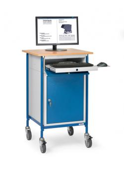 Rolltop desk - with horizontal writing surface and steel cabinet