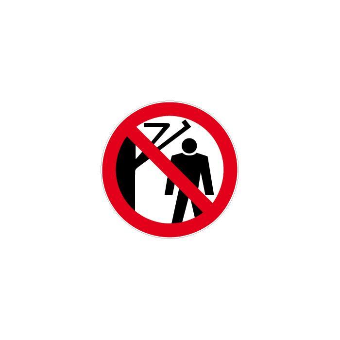 """Verbotszeichen """"Nicht hinter den Schwenkarm treten""""  Ø 5 bis 40 cm"""