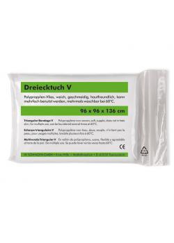 Dreiecktuch V - DIN 13 168 - weiß oder schwarz - PP Vlies - 96x96x136 cm