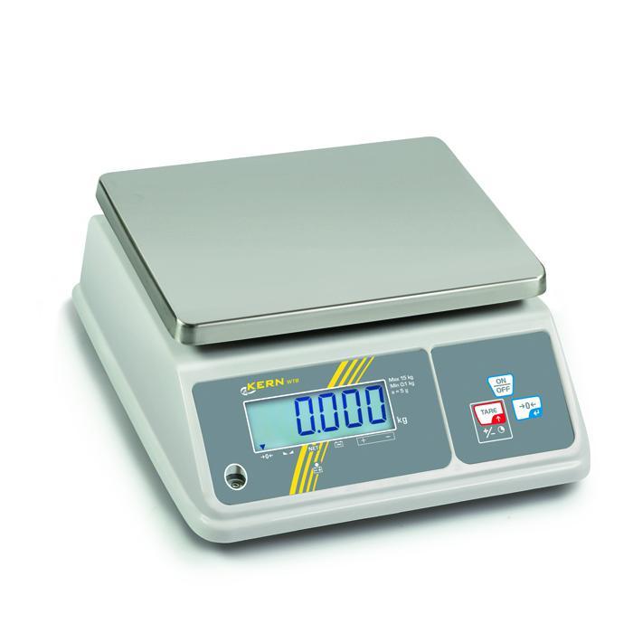 Waage - max. Wägewert 1,5 bis 30 kg - Schutzklasse IP 65 - ohne Eichzulassung