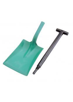 Schaufel zweiteilig Industrie - Farbe grün - Polypropylen PP