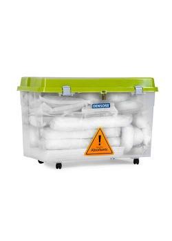 DENSORB Notfall-Set - Ausführung Öl - in transparenter Roll-Box