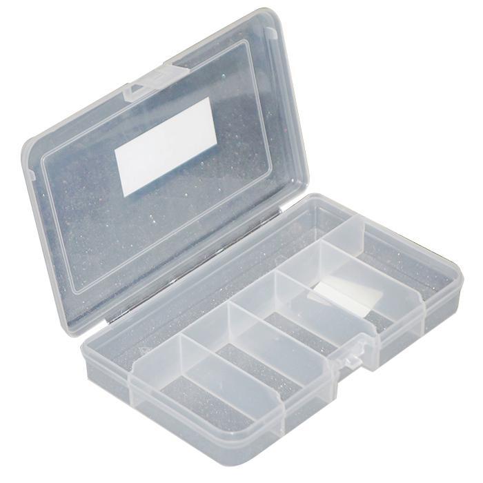Bra Låda - transparent - olika fack - 165 x 112 x 31 mm ZY-46