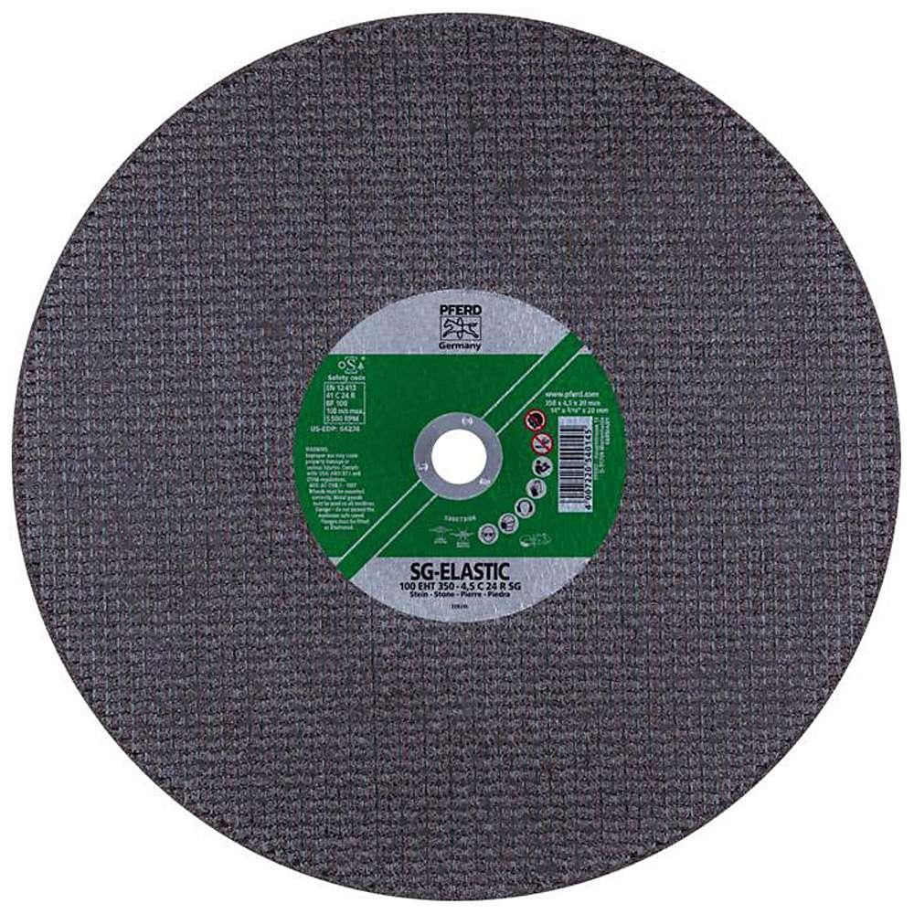 Skärhjul - PFERD - för sten - Hårdhet R - max. Arbetshastighet 100 m / s