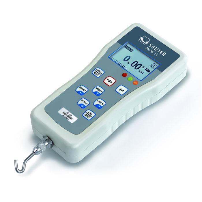Kraftmessgerät - digital - Messbereich 5 bis 2500 N - Ablesbarkeit [d] 0,002 bis 1 N